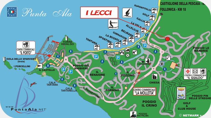 Map Residence I Lecci